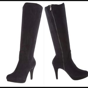 ADRIENNE VITTADINI  Slouch Tall Boot Suede Heel